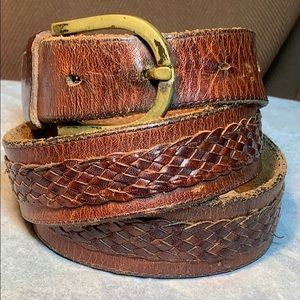 Solid brass made in Spain buckle/handmade belt